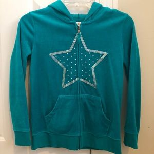 Other - NEW Teal Velvet Zip-Up Jacket